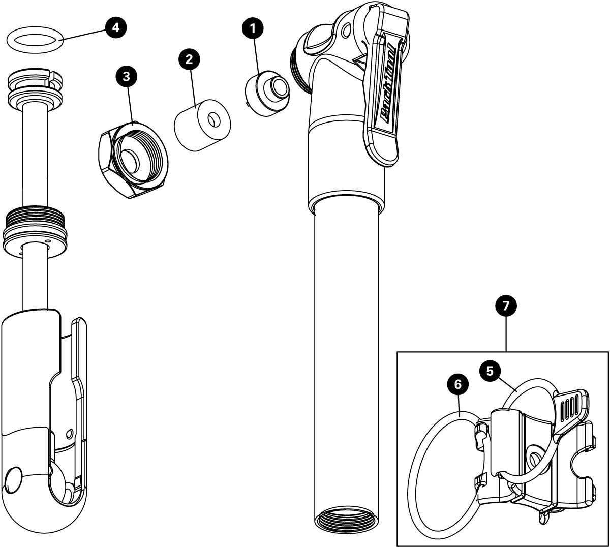 Parts diagram for PMP-3.2 Micro Pump, click to enlarge
