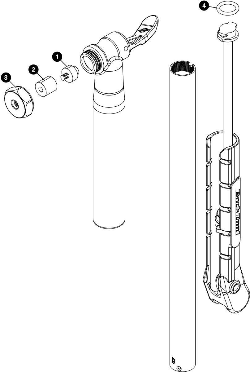 Parts diagram for PMP-5 Dial Adjust Frame Pump, click to enlarge