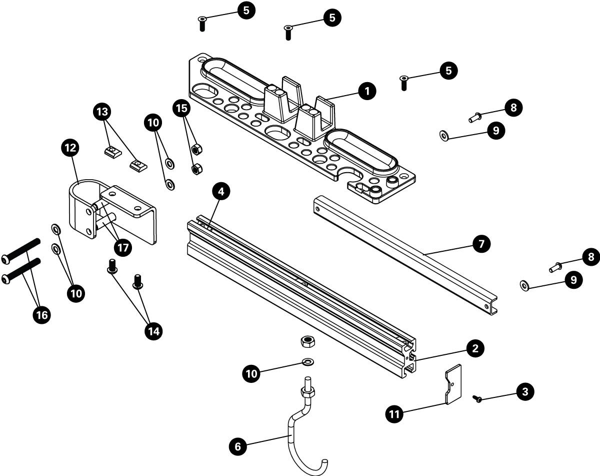 Parts diagram for PRS-TT Deluxe Tool and Work Tray, click to enlarge