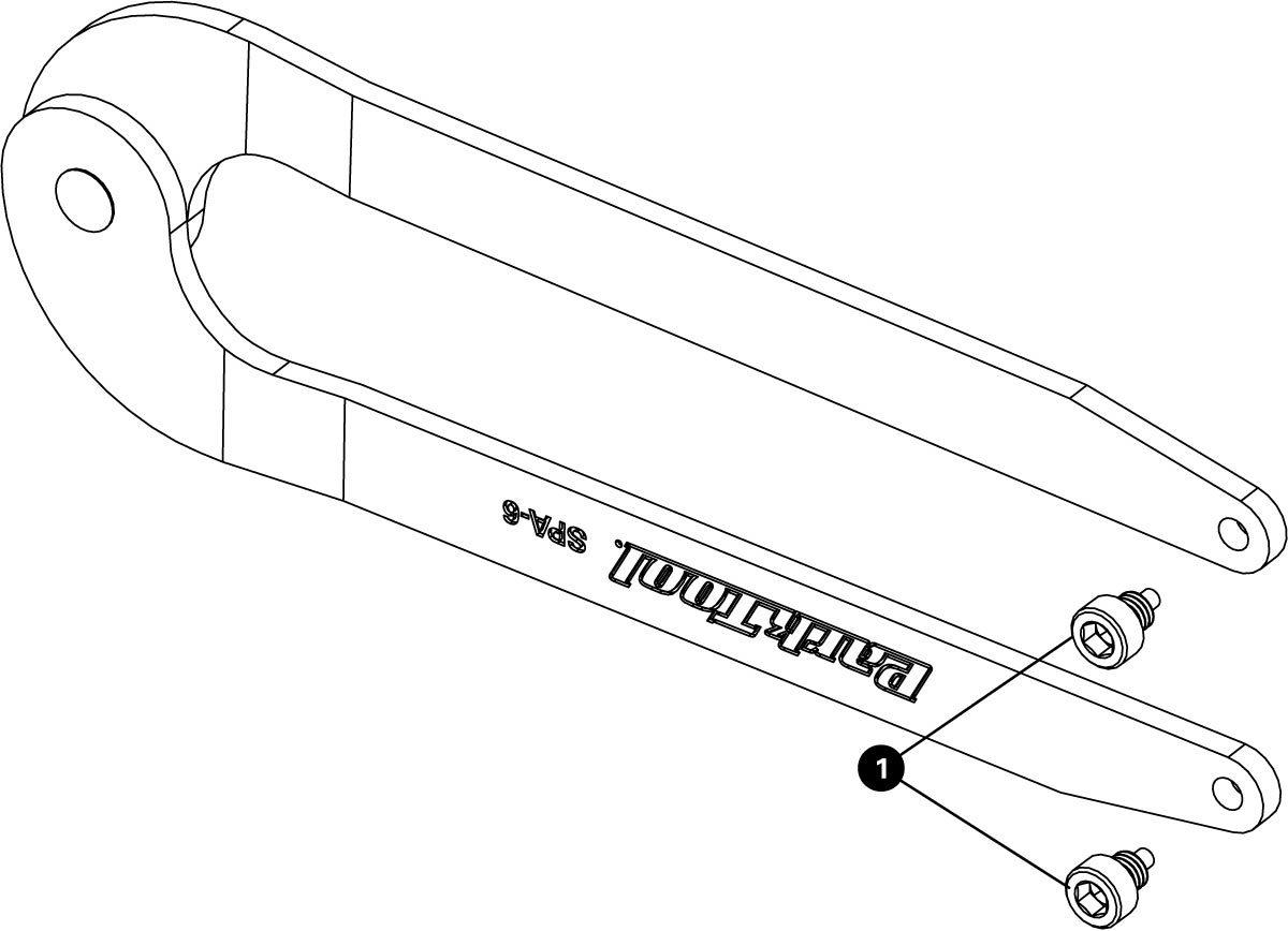 Parts diagram for SPA-6 Adjustable Spanner, click to enlarge