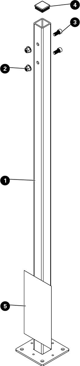 Parts diagram for THP-1 Mounting Post, click to enlarge