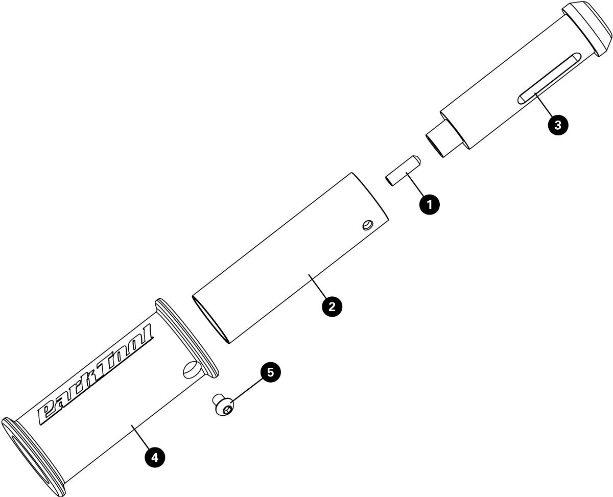 Parts diagram for TNS-4 Deluxe Threadless Nut Setter, click to enlarge