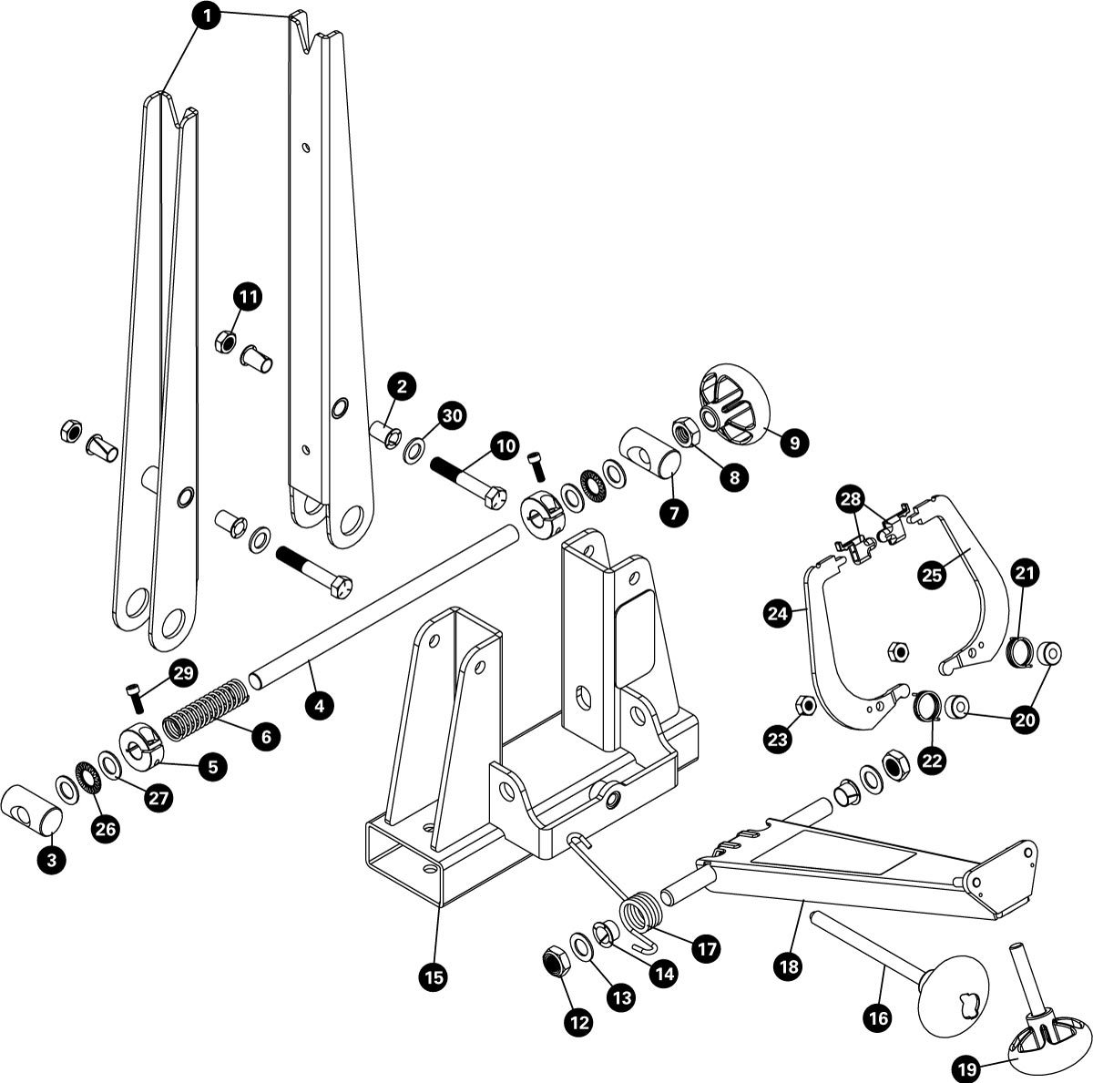 Parts diagram for TS-2.2P Powder Coated Professional Wheel Truing Stand, click to enlarge