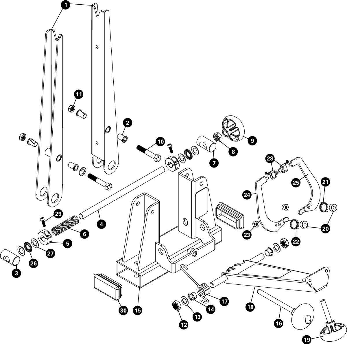 Parts diagram for TS-2.2 Professional Wheel Truing Stand, click to enlarge
