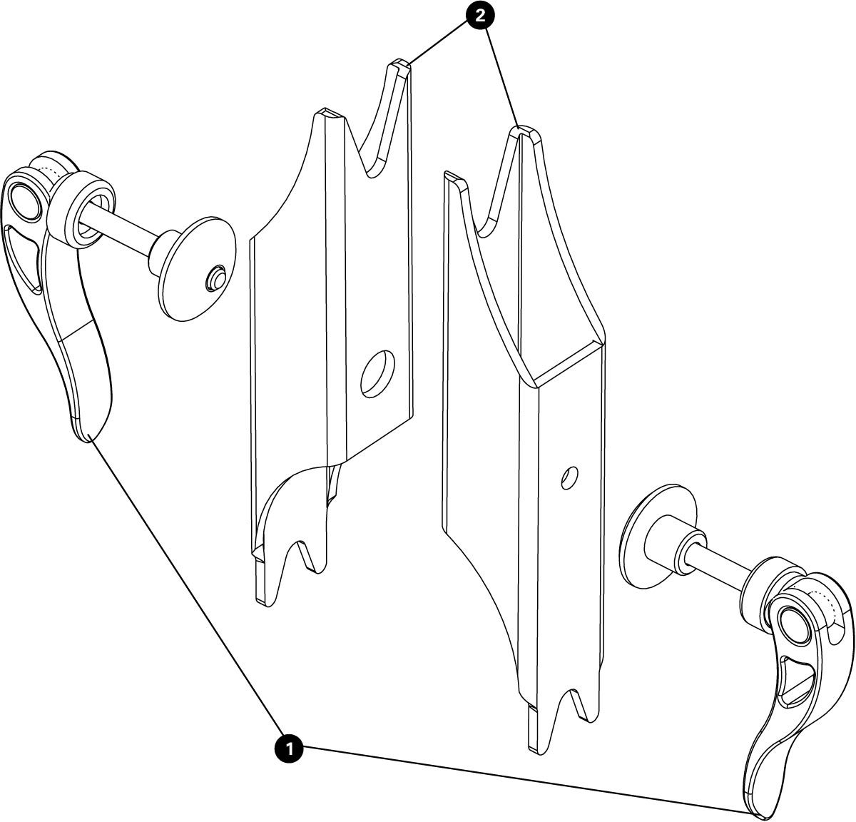 Parts diagram for TS-2EXT.2 Truing Stand Extensions / Adaptors, click to enlarge