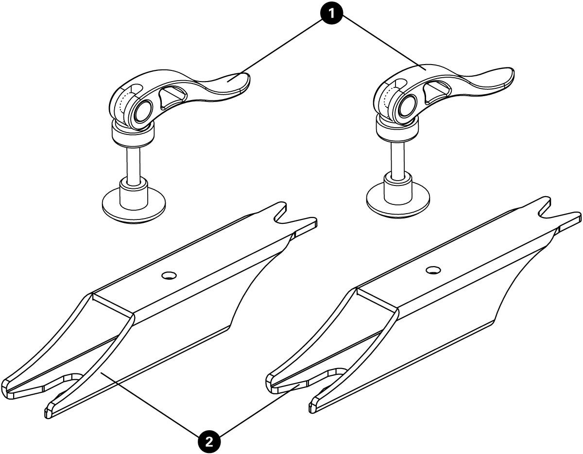 Parts diagram for TS-2EXT.3 Truing Stand Extensions / Adaptors, click to enlarge