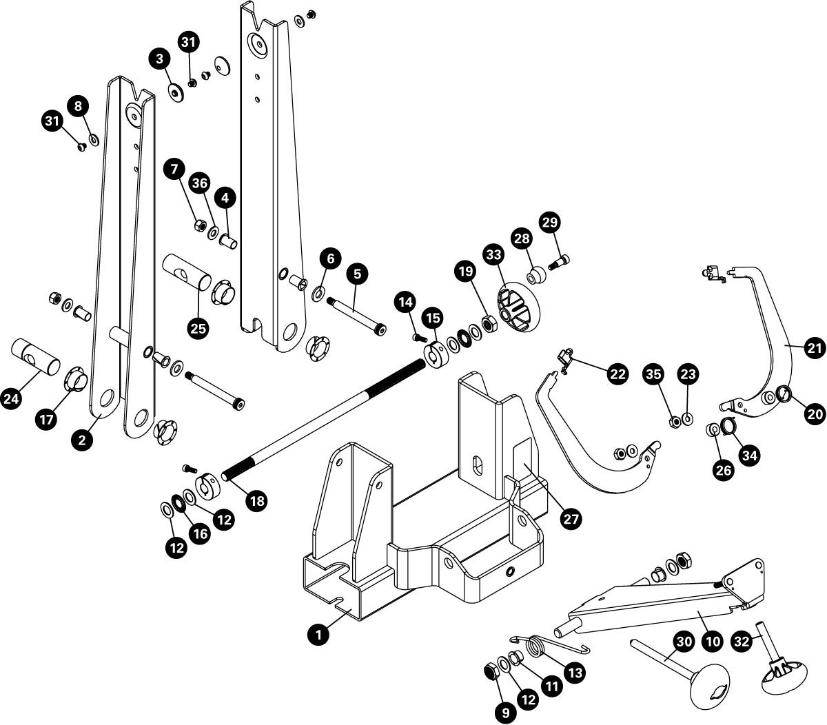 Parts diagram for TS-4.2 Professional Wheel Truing Stand, click to enlarge