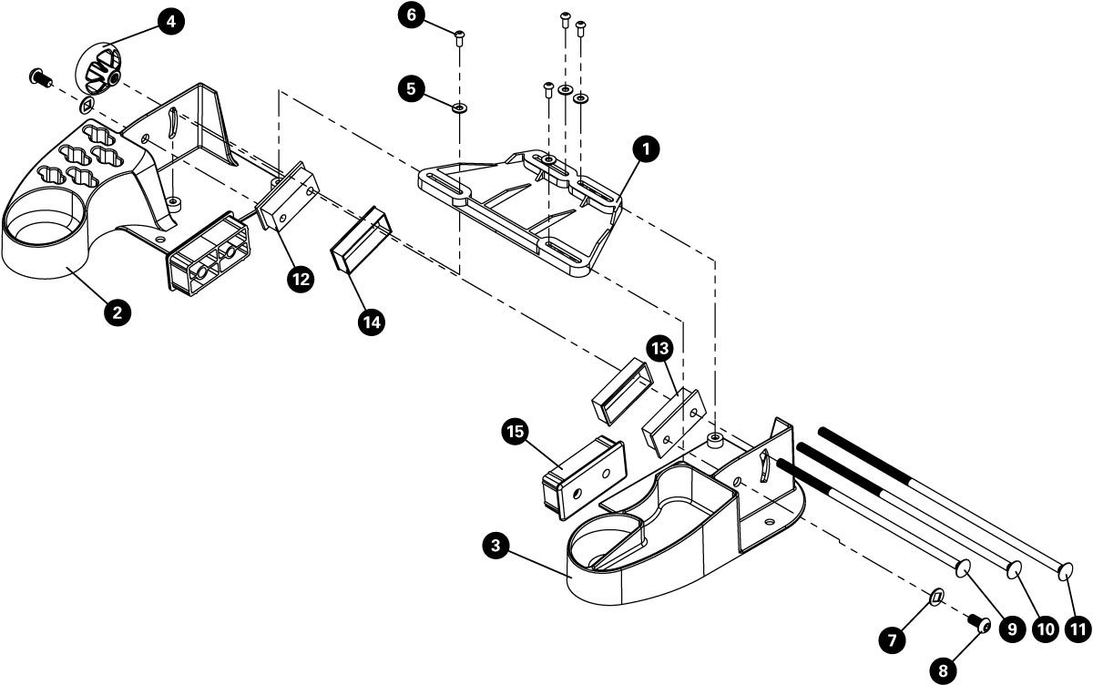 Parts diagram for TSB-4.2 Truing Stand Tilting Base for TS-4.2, click to enlarge