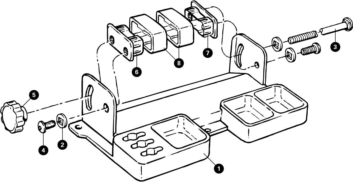 Parts diagram for TSB-2 Truing Stand Tilting Base, click to enlarge