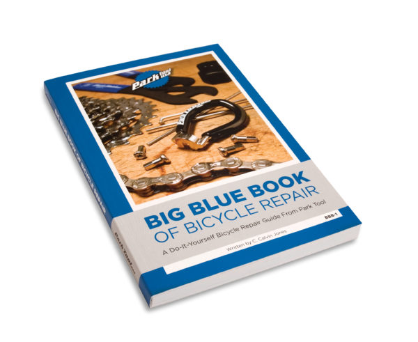 Front cover of the Park Tool BBB-1 Big Blue Book of Bicycle Repair — 1st Edition (2005), click to enlarge