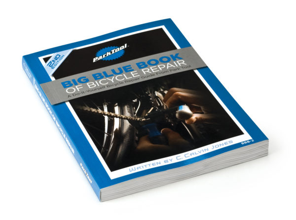 Front cover of the Park Tool BBB-2 Big Blue Book of Bike Repair — 2nd Edition, click to enlarge