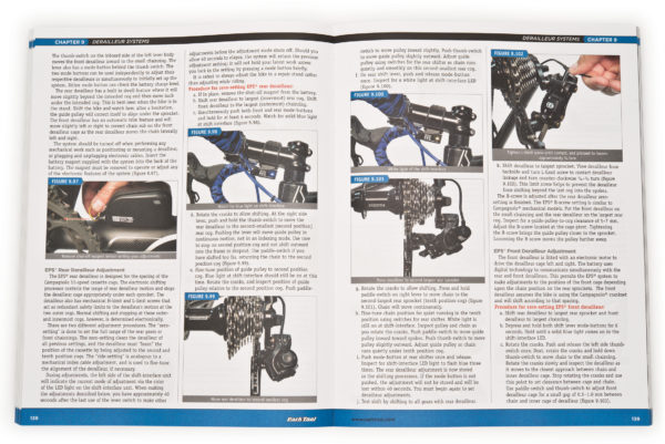 Inside page of the Park Tool BBB-3 Big Blue Book of Bicycle Repair — 3rd Edition, click to enlarge
