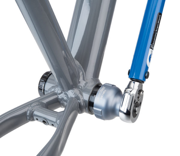 Park Tool BBT-59.2 Bottom Bracket Tool driven by a torque wrench to install Shimano® XT® bottom bracket, click to enlarge