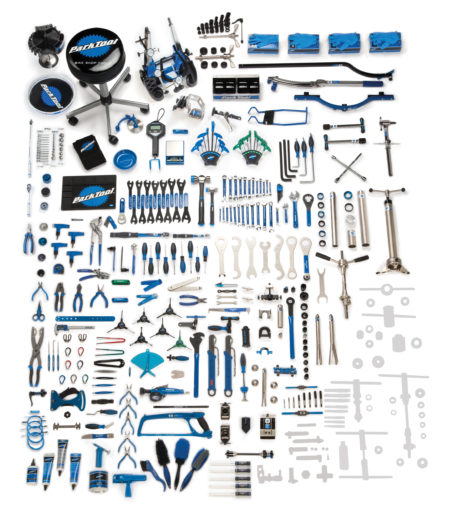 Contents in the BMK-275 Park Tool Base Master Tool Kit, click to enlarge