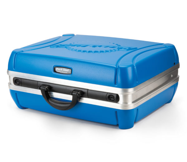 Park Tool Bx-2.2 Blue Box Tool Case on its side, click to enlarge