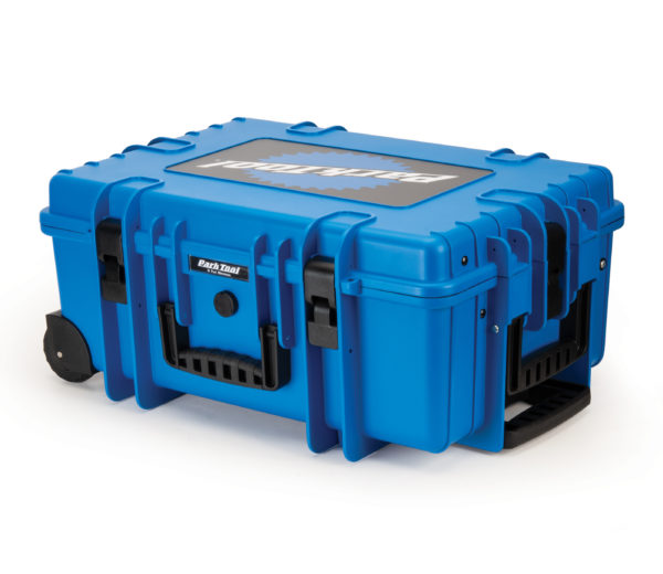 Park Tool BX-3 Rolling Big Blue Box on side, click to enlarge