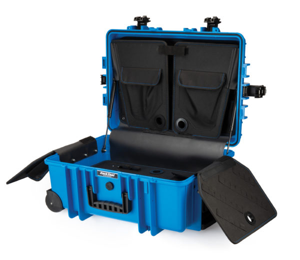 Park Tool BX-3 Rolling Big Blue Box open, click to enlarge