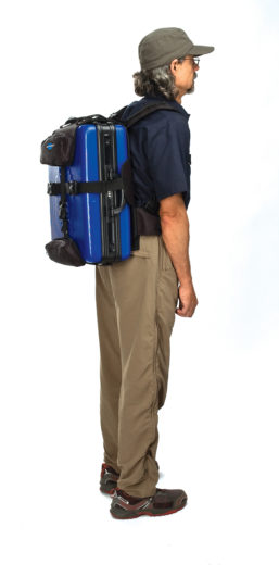 The Park Tool BXB-1 Backpack Harness for BX-1 on model, click to enlarge