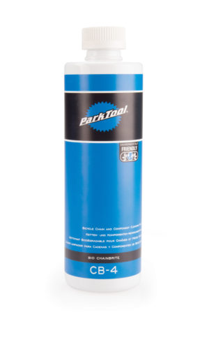 Bottle of Park Tool CB-4 Bio ChainBrite, click to enlarge