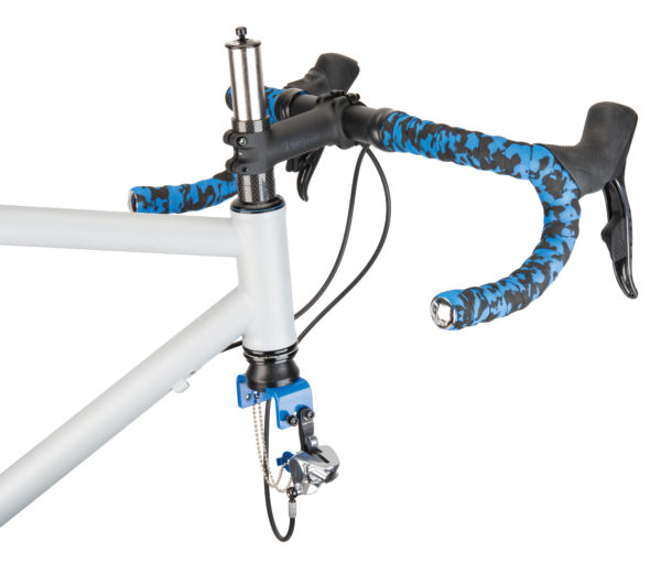 Part Tool Dummy Fork holding drop handlebar bike with flat mount brake, click to enlarge