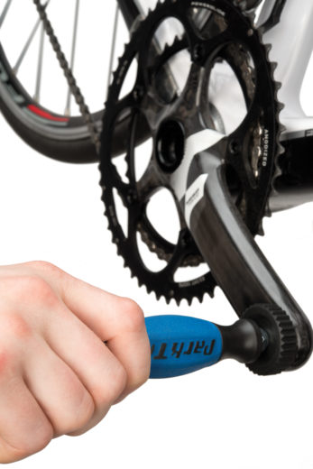The Park Tool DP-2 Threaded Dummy Pedal installed on SRAM® force crank, click to enlarge