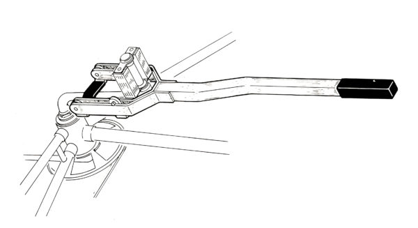 Illustration of HCS-1 Crank Straightener, click to enlarge