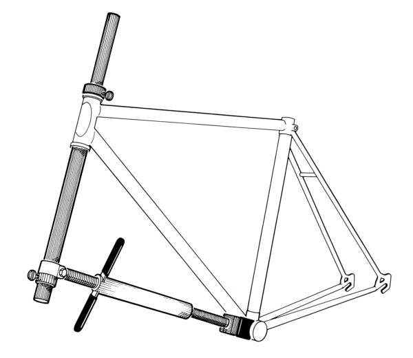 Illustration of HTS-1 Head Tube Straightener, click to enlarge