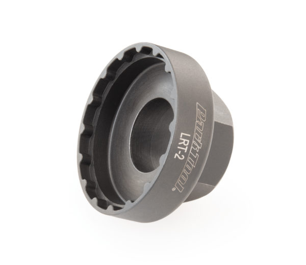 Park Tool LRT-2 Lockring Tool — Shimano® STEPS® on its side, click to enlarge