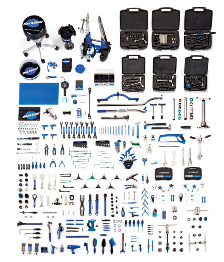 Contents in the Park Tool MK-14 Master Tool Kit, click to enlarge