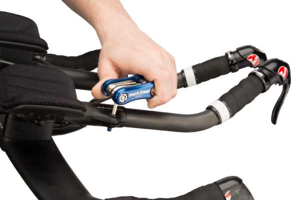 The Park Tool MT-20 Multi-Tool adjusting aero bars, click to enlarge
