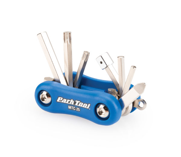 Contents in the Park Tool MTC-25 Multi-Tool all folded out, click to enlarge