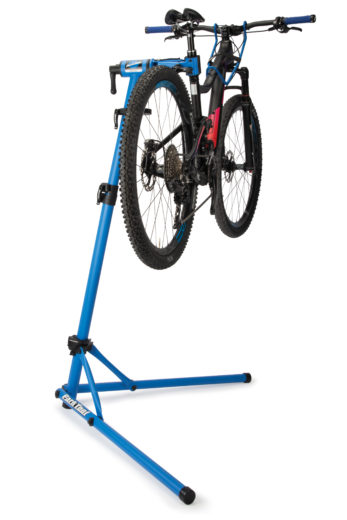 Park Tool PCS-10.2, Deluxe Home Mechanic Repair Stand with bike lifted, click to enlarge