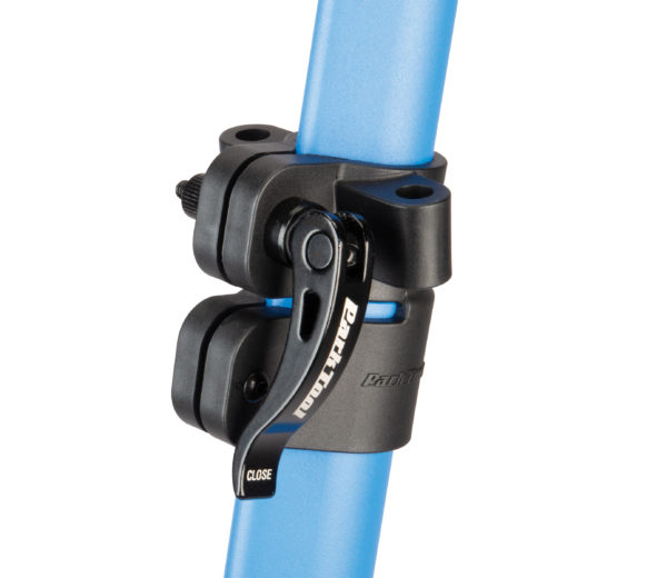 Close up adjustable fittings on the Park Tool PCS-10.2, Home Mechanic Repair Stand, click to enlarge