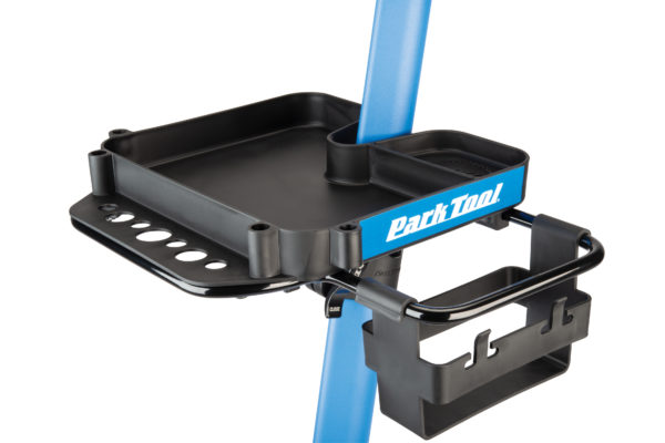 Close up the Park Tool work Tray on PCS-10.2, Deluxe Home Mechanic Repair Stand, click to enlarge