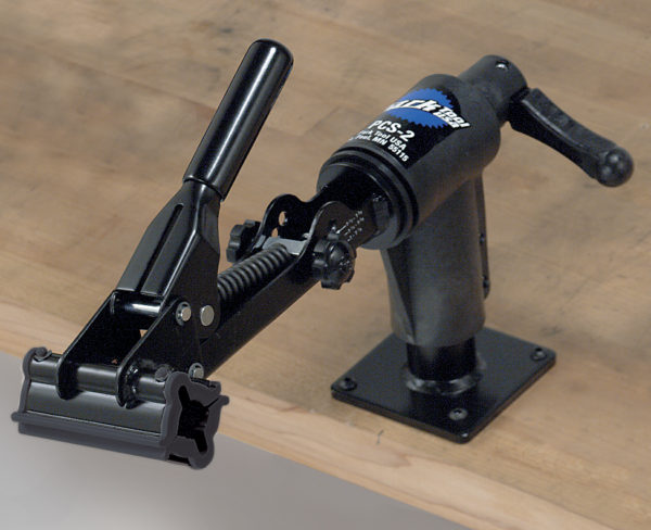 The Park Tool PCS-2 Home Mechanic Bench Mount Repair Stand, click to enlarge