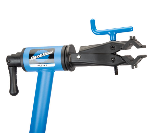 Close up of the clamp on the Park Tool PCS-9.2, Home Mechanic Repair Stand, click to enlarge