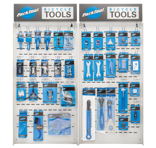 The Park Tool PDR-6.2 Double Wall Display, click to enlarge