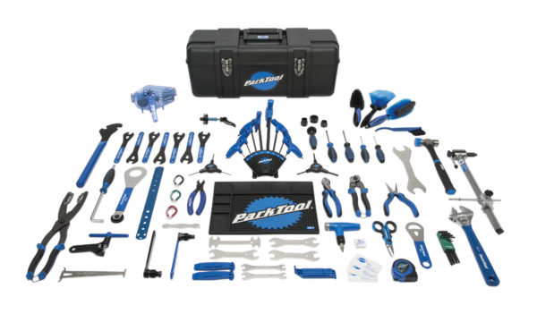 Contents in the Park Tool PK-3 Professional Tool Kit, click to enlarge