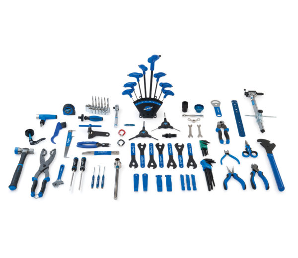 Contents of the Park Tool PK-5 Professional Tool Kit, click to enlarge