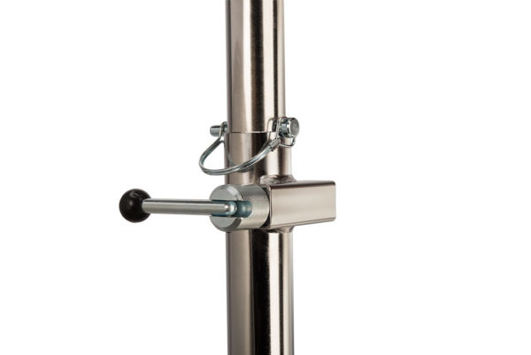 Close-up of The Park Tool PRS-2.2-1 Deluxe Double Arm Repair Stand lock block system, click to enlarge