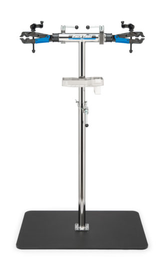 The Park Tool PRS-2.2-2 Deluxe Double Arm Repair Stand with stand base, click to enlarge