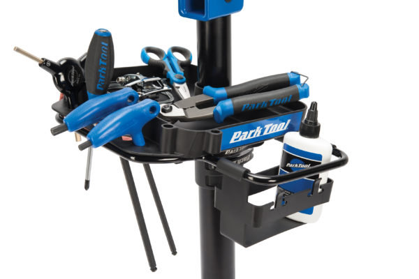 Close-up of the 106 work tray on the Park Tool PRS-22.2 Team Issue Repair Stand, click to enlarge