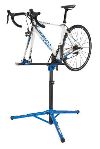 Park Tool PRS-22 Team Issue Repair Stand with bike mounted, click to enlarge