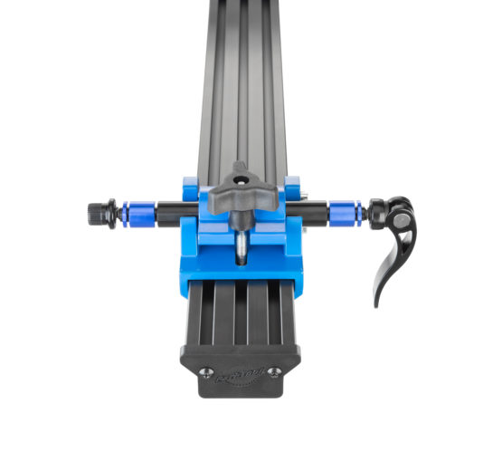Close-up of Park Tool PRS-22 Team Issue Repair Stand rotation system, click to enlarge