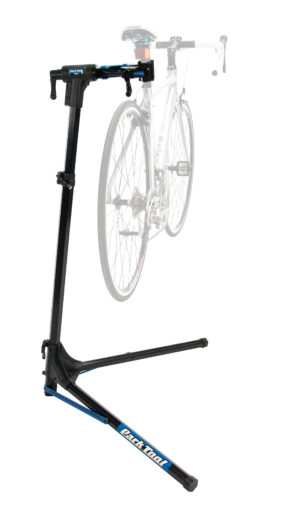 The Park Tool PRS-25 Team Issue Repair Stand with bike mounted, click to enlarge