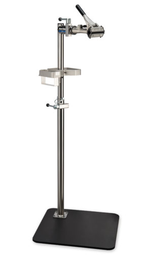 The Park Tool PRS-3.2-1 Deluxe Single Arm Repair Stand with base, click to enlarge