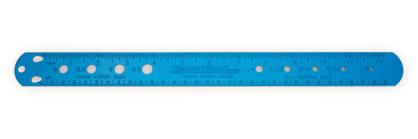 The Park Tool SBC-1 Spoke, Bearing, and Cotter Gauge, click to enlarge