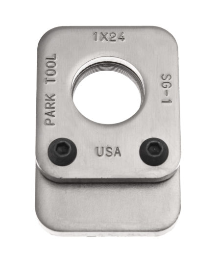 The Park Tool SG-1 Threaded Saw Guide, click to enlarge
