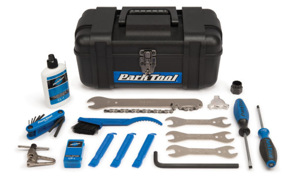 Contents in the Park Tool SK-1 Home Mechanic Starter Kit, click to enlarge
