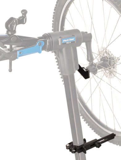Example of the Park Tool TS-25 Repair Stand Mounted Wheel Truing Stand fitting on a stand, click to enlarge